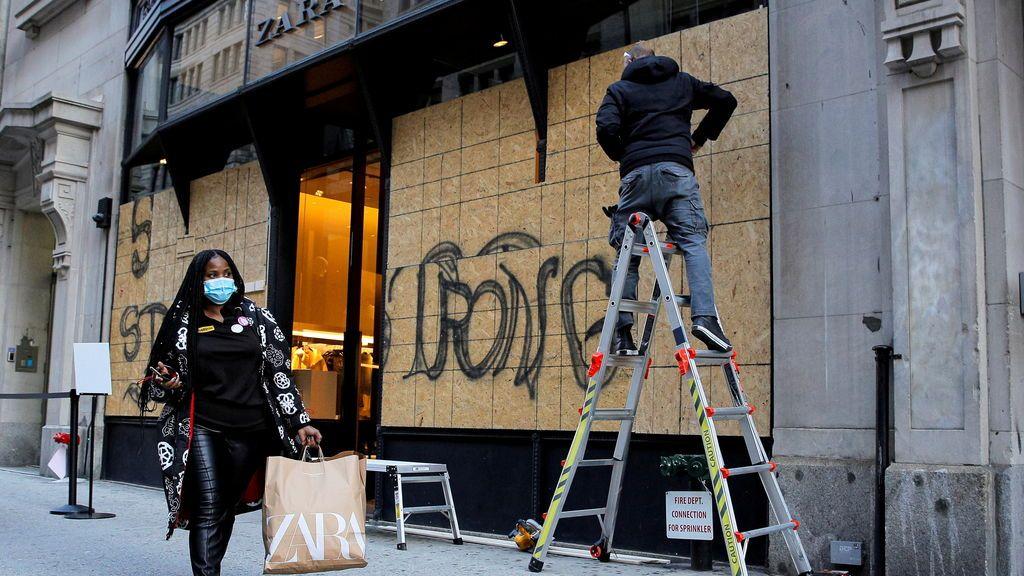 """Washington y Nueva York """"se blindan"""" ante posibles disturbios en la noche electoral"""