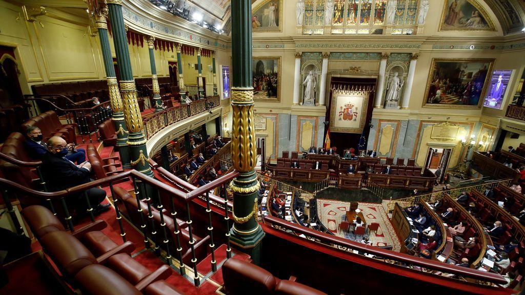 Vista del Congreso de los Diputados, Madrid