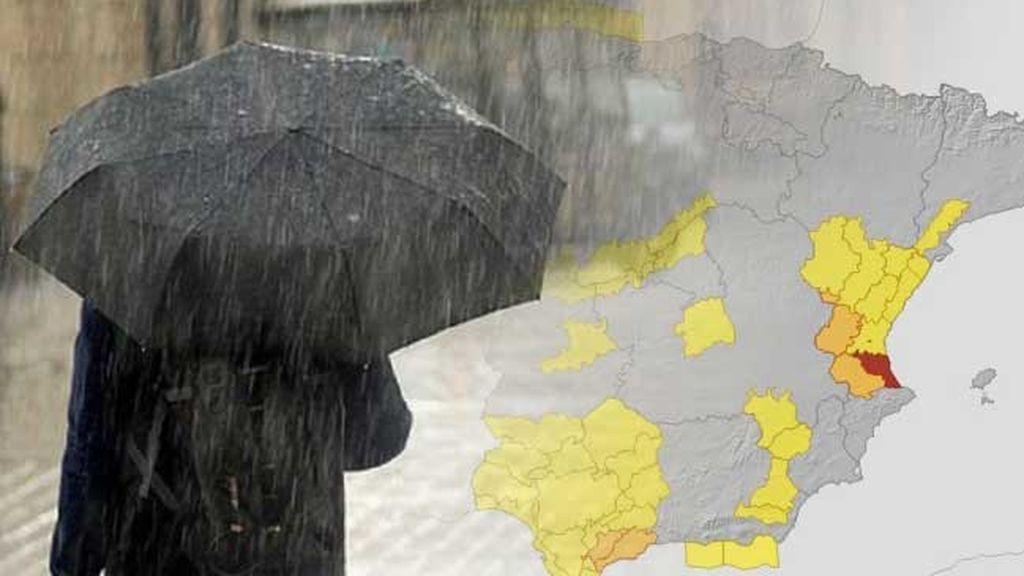 El temporal se agrava en Valencia: aviso rojo por riesgo extremo esta tarde