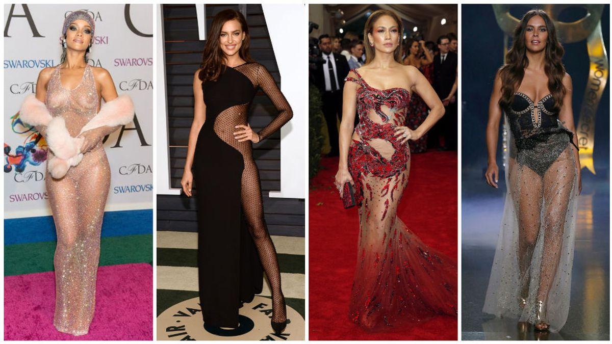 De Rihanna a Cristina Pedroche: los vestidos transparentes que hicieron historia.