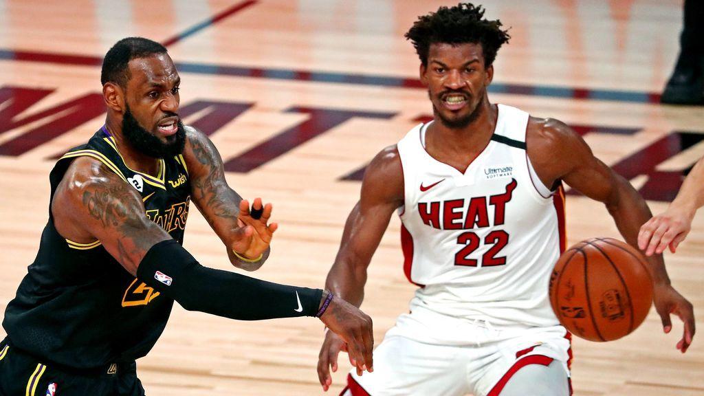 Lebron James y Butler, en las pasadas Finales de la NBA