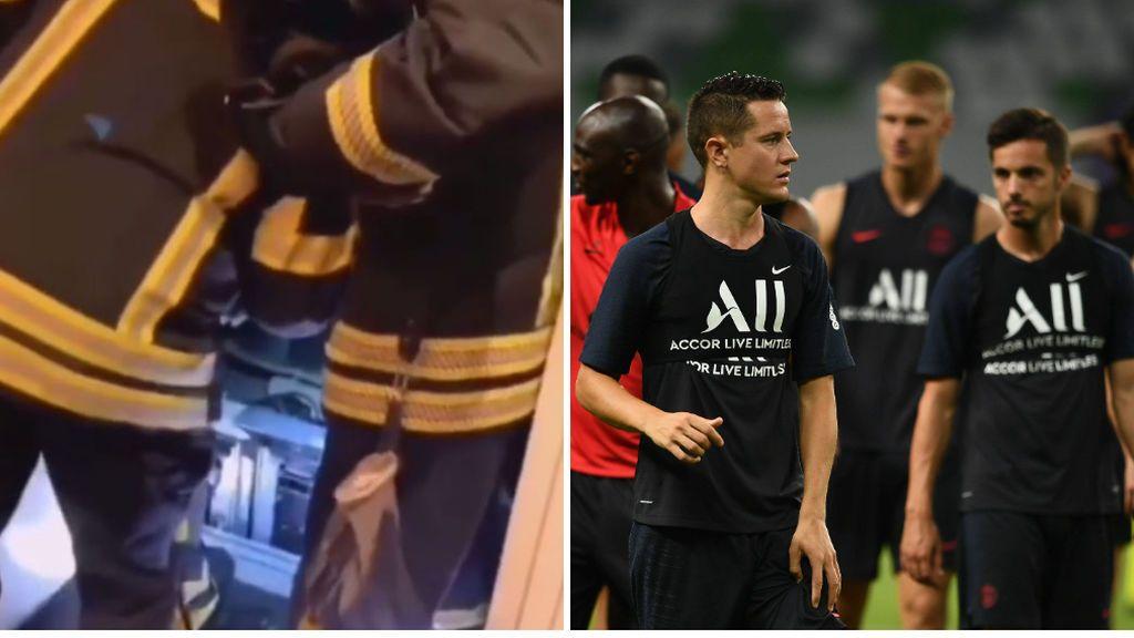 Los bomberos rescatan a 10 jugadores del PSG que se habían quedado encerrados en un ascensor a unos minutos del partido de Champions