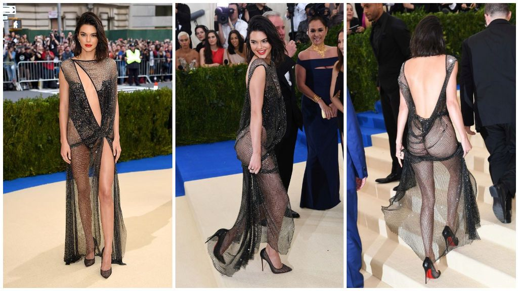 Kendall Jenner arriesgó en la Gala MET con un provocador vestido.
