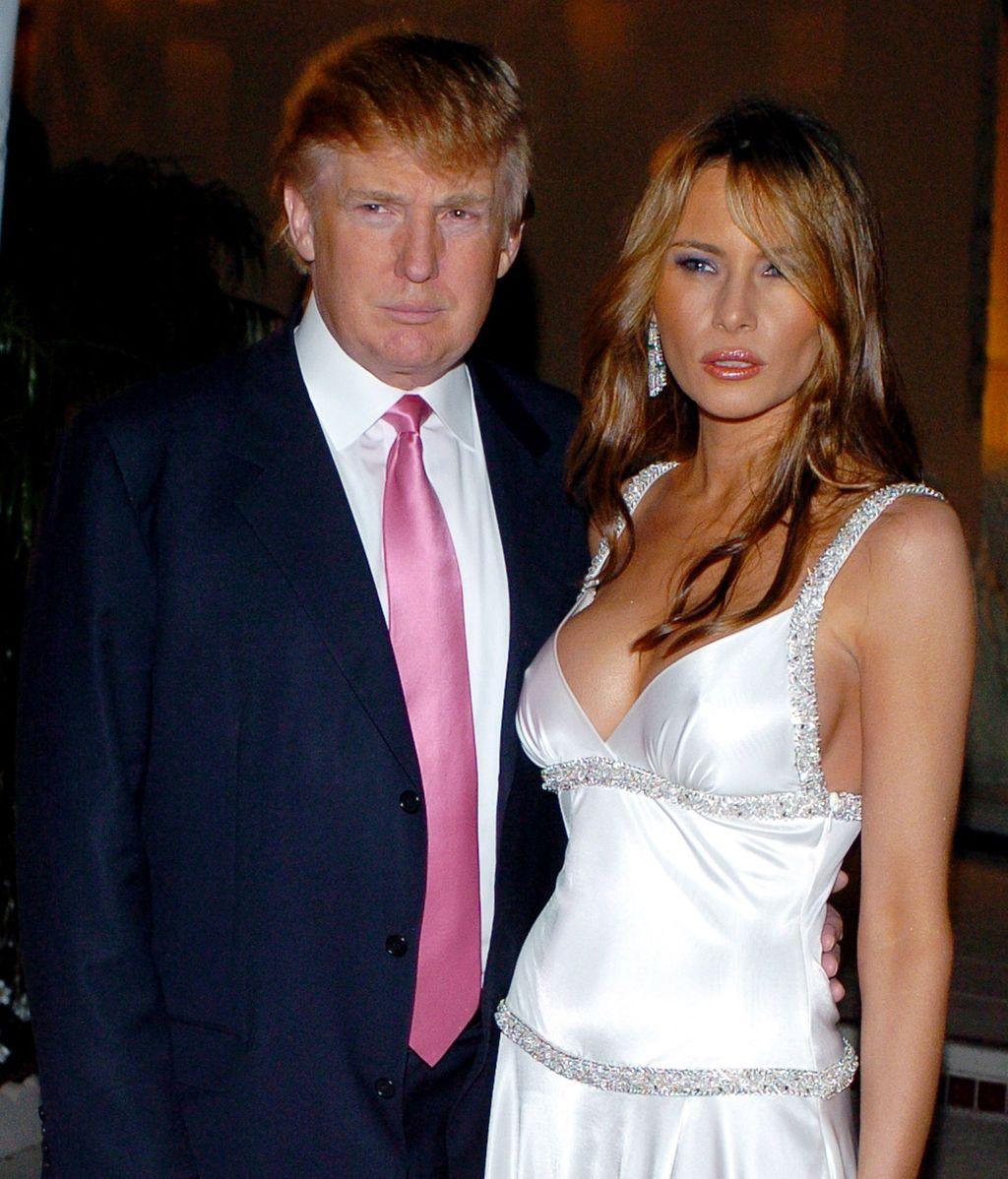 Trump y Melania antiguas