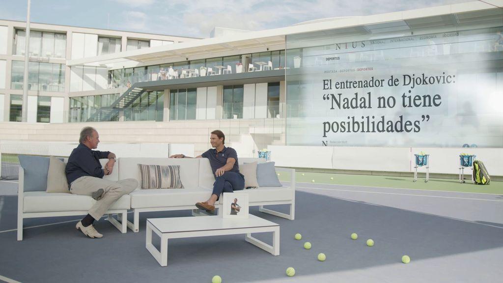 Rafa Nadal se pronuncia, por primera vez, sobre las desafortunadas declaraciones del entrenador de Djokovic sobre él