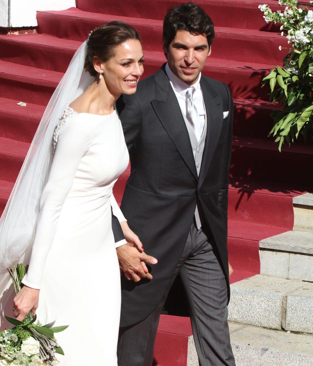Eva González y Cayetano Rivera el día de su boda