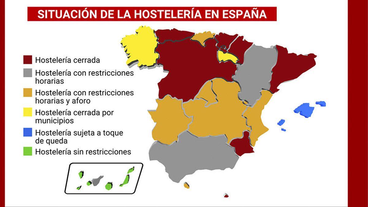 Más de 16 millones de españoles ya no pueden ir al bar debido a las restricciones