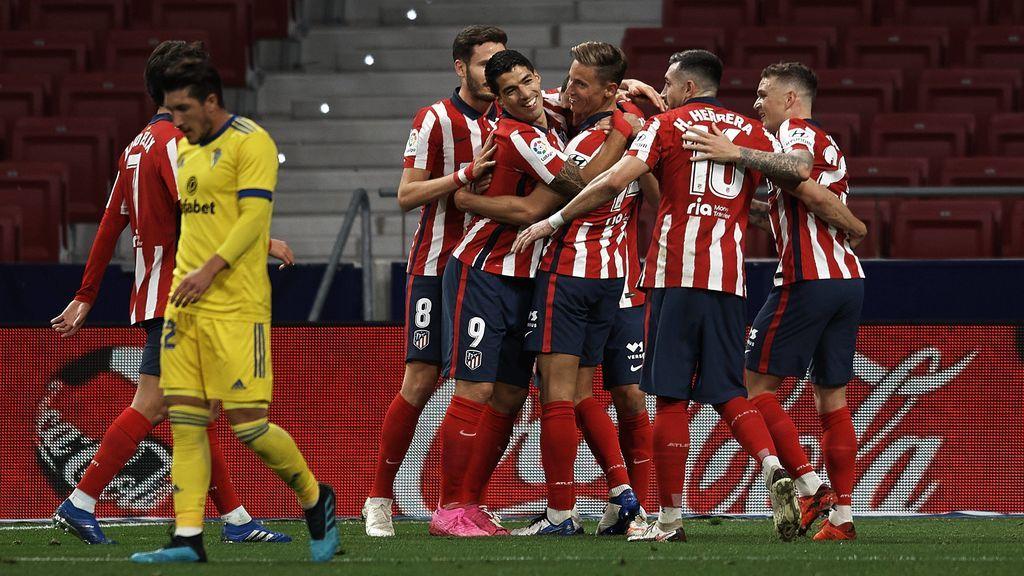 El Atlético de Madrid sigue con su buena racha y gana al Cádiz en el Metropolitano (3-0)