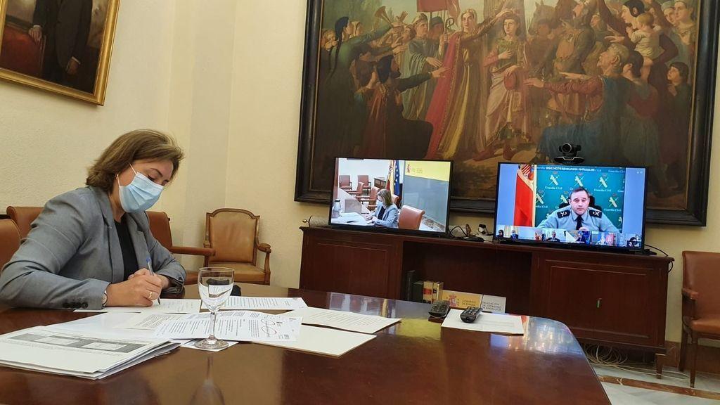 Sandra García en la Mesa de Coordinación Operativa del Plan Especial del Campo de Gibraltar