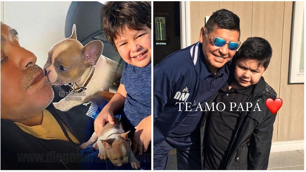 """El tierno mensaje del hijo de Maradona, Dieguito Fernando, a su padre: """"Recupérate pronto así jugás conmigo"""""""