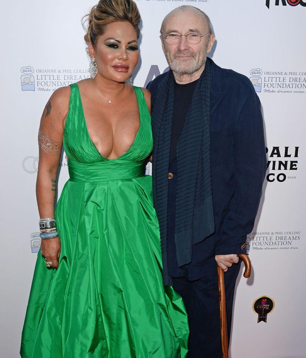 Phil Collins y su mujer, Orianne Cevey, en una gala de 2008