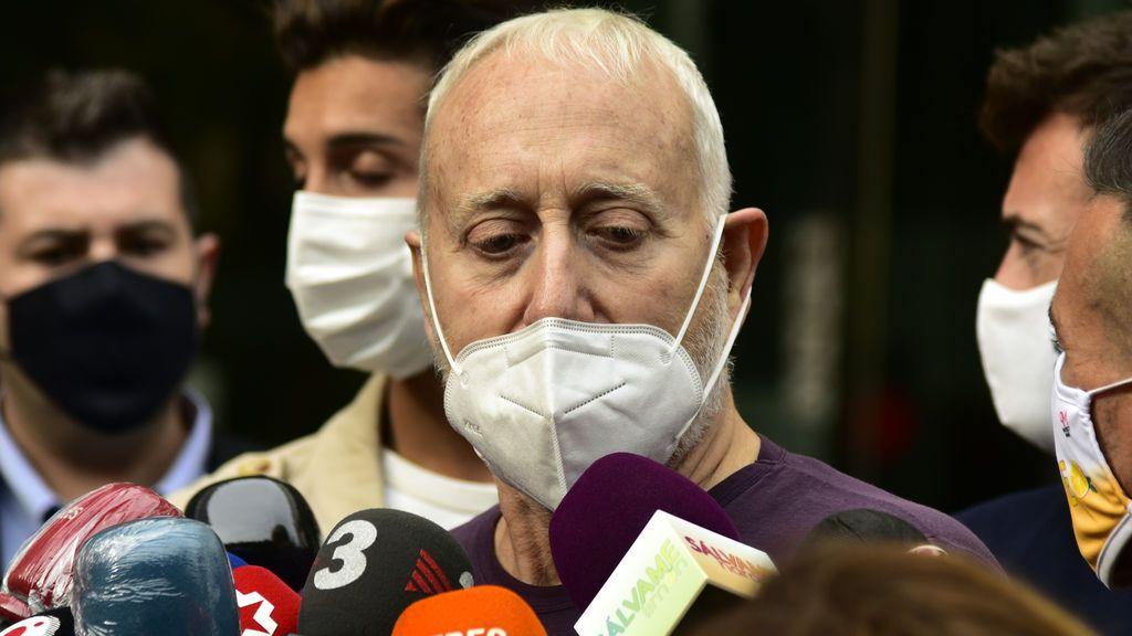 Josep Maria Mainat, a la salida de los juzgados en Barcelona