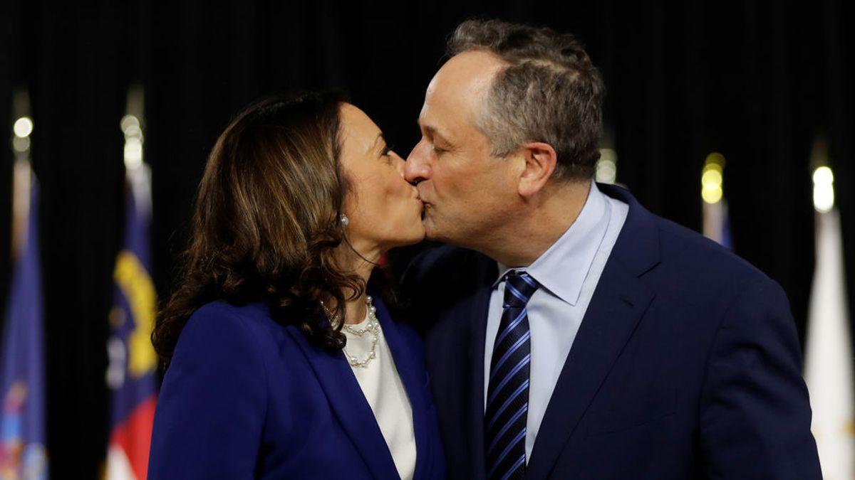 Las declaraciones de amor del marido de Kamala Harris, la vicepresidenta que hará historia en Estados Unidos