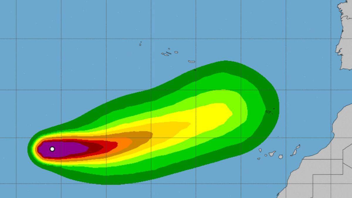 La tormenta tropical Theta amenaza las islas Canarias y el oeste de la Península