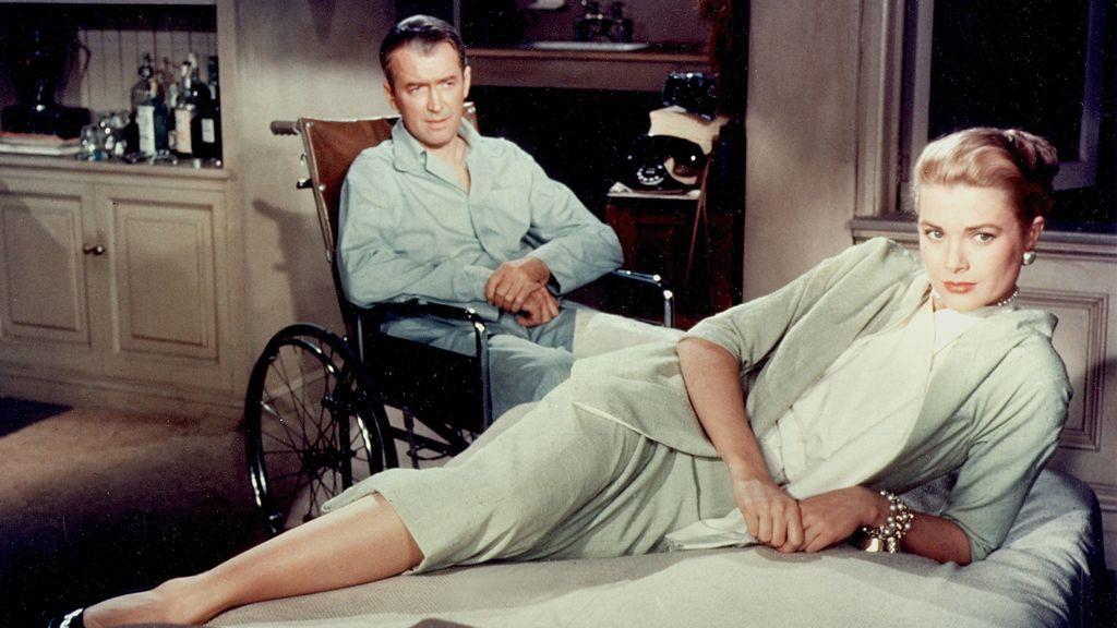 Grace Kelly con James Stewart en 'La ventana indiscreta'