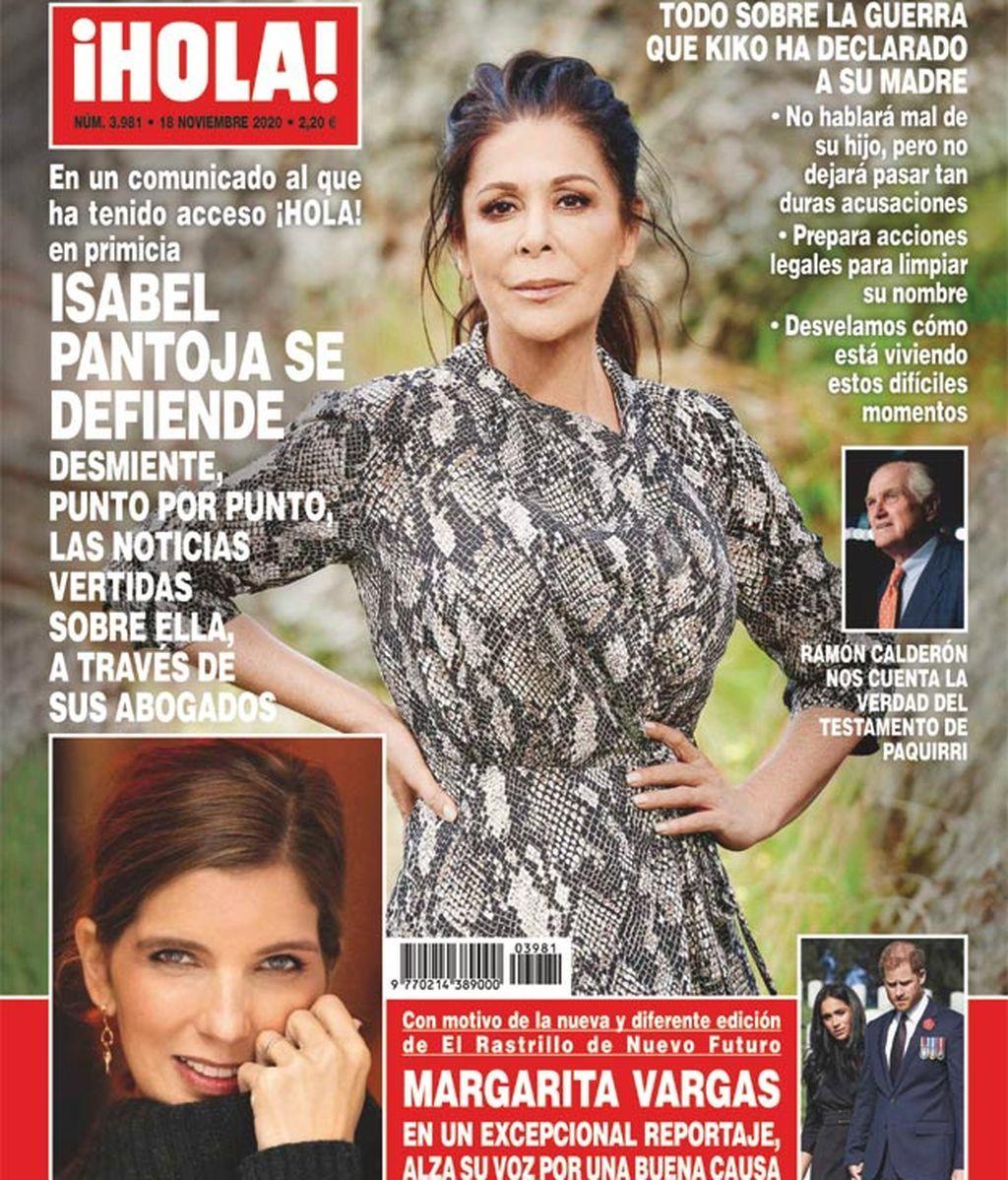 Isabel Pantoja, en la portada de ¡Hola! del 11 de noviembre de 2020