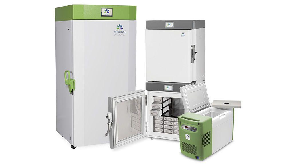 El congelador de Stirling se mueve entre los -86°C a los -20°C