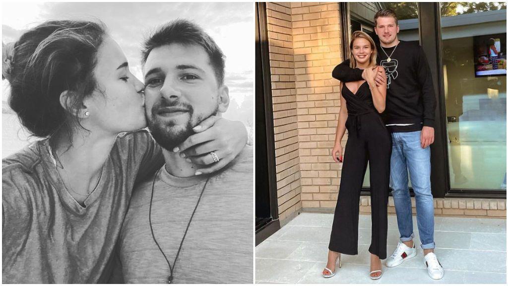 Luka Doncic, junto a su pareja Anamaria Goltes.