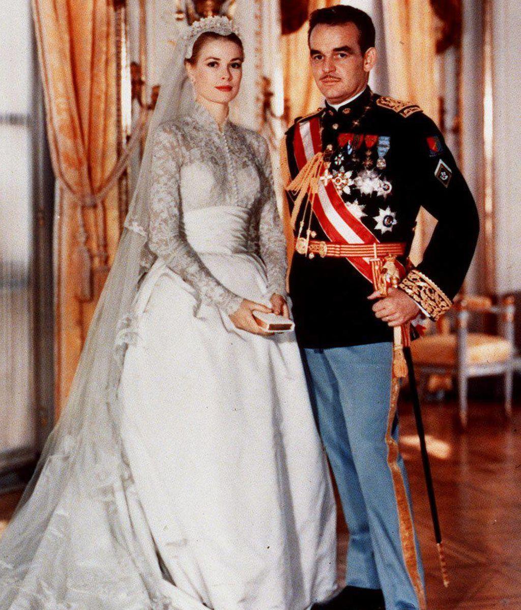 Gracia de Mónaco y el príncipe Rainiero, en Mónaco