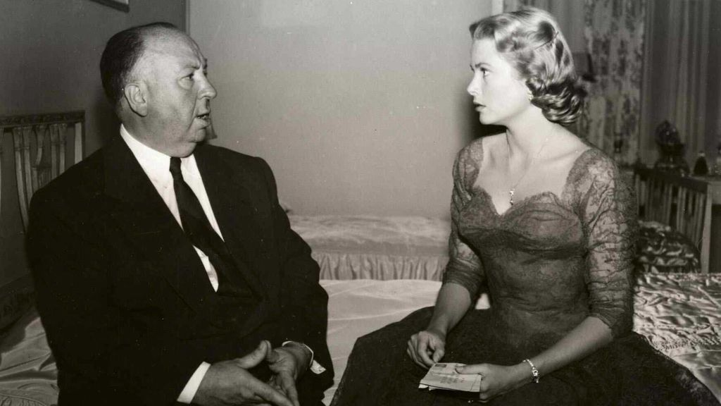 Grace Kelly con Alfred Hitchcock