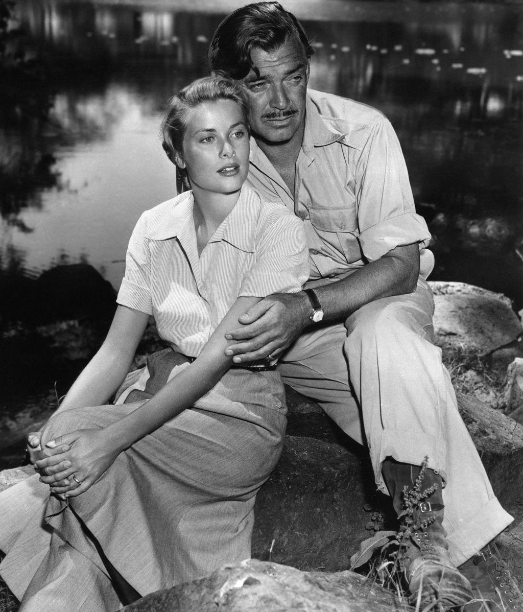Grace Kelly y Clark Gable, en 'Mogambo'