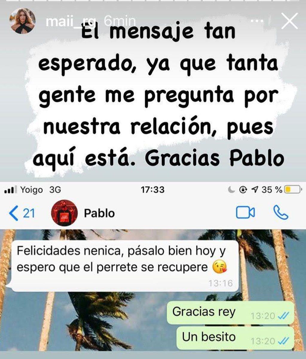 El mensaje de Pablo para Mayka