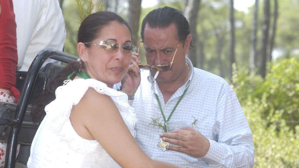 Isabel Pantoja y su entonces pareja, Julián Muñoz (2003)
