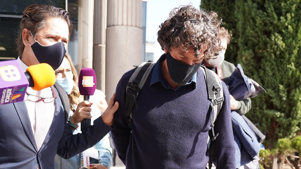 Nacho Palau a su salida de los juzgados