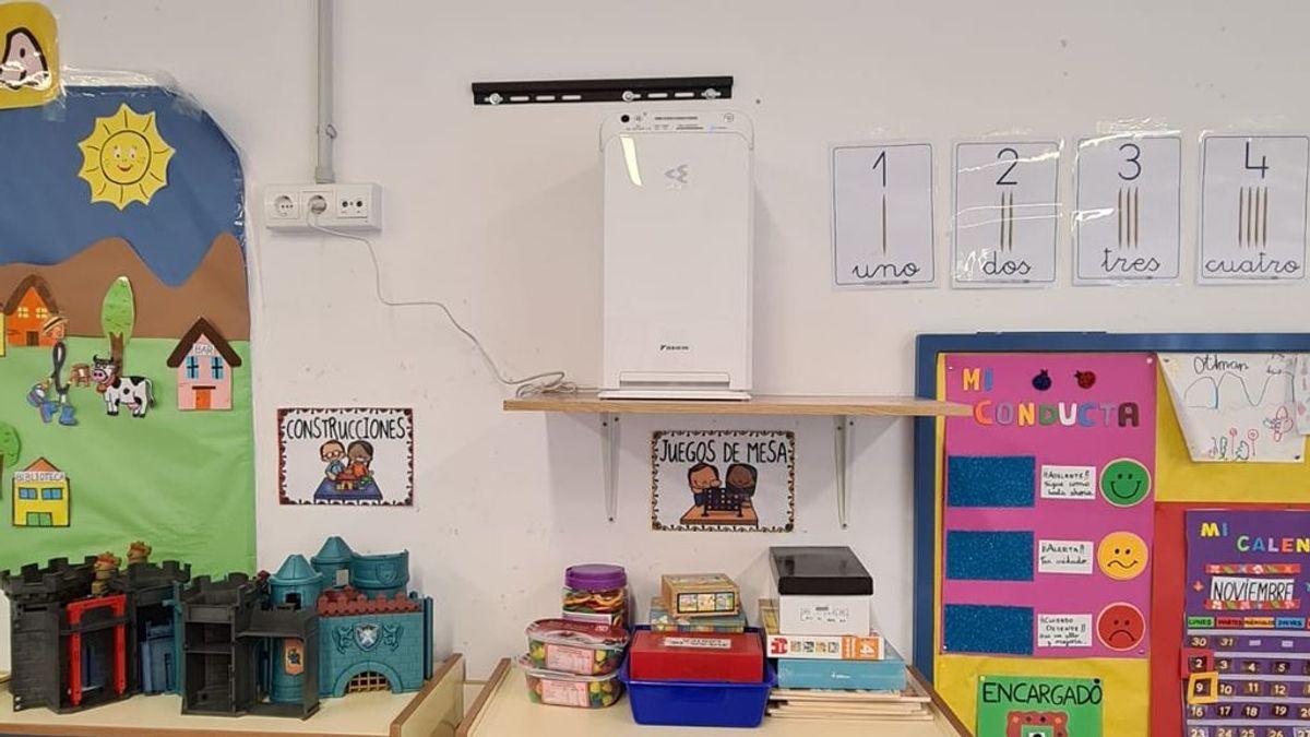 Un pueblo de Granada instala 22 purificadores HEPA en un colegio para limpiar las aulas de los temidos aerosoles