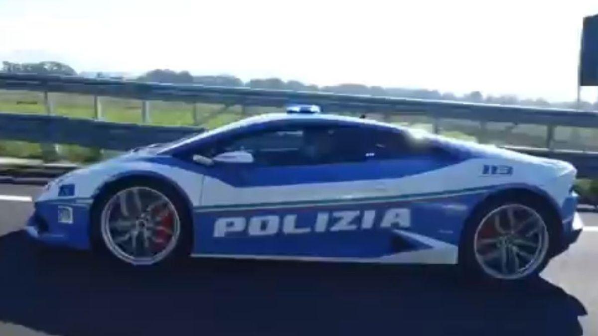La Policía italiana usa un Lamborghini para transportar un riñón en tiempo récord