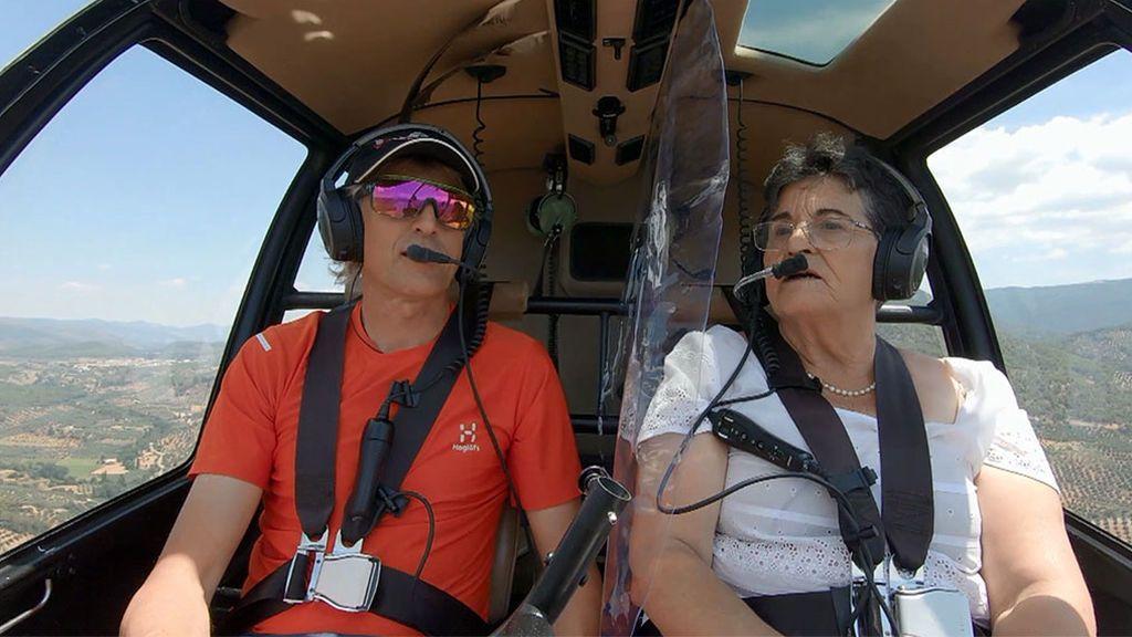 """Antonia, alucina en su vuelo con Calleja: """"Esto es el paraíso terrenal… ¡Estoy volando!"""""""