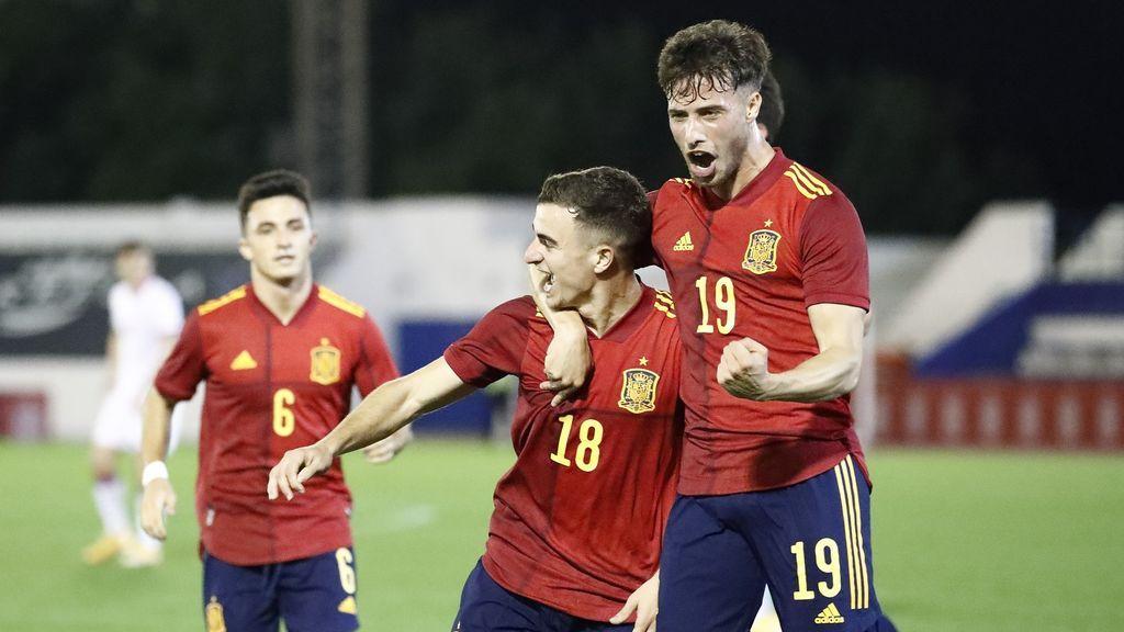 Pedrosa da la victoria a España Sub21 en un mero trámite ante Islas Feroe (1-0)