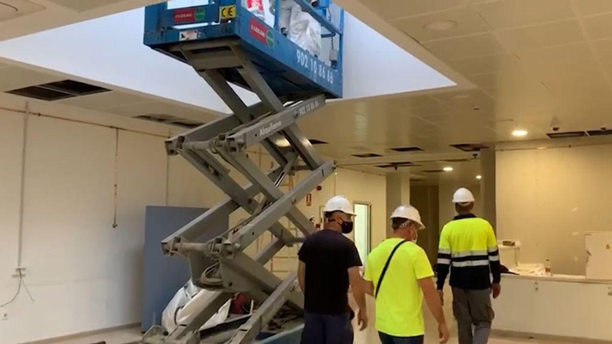 Un hospital de Málaga coloca 20 camas en la cafetería ante el colapso de casos por coronavirus