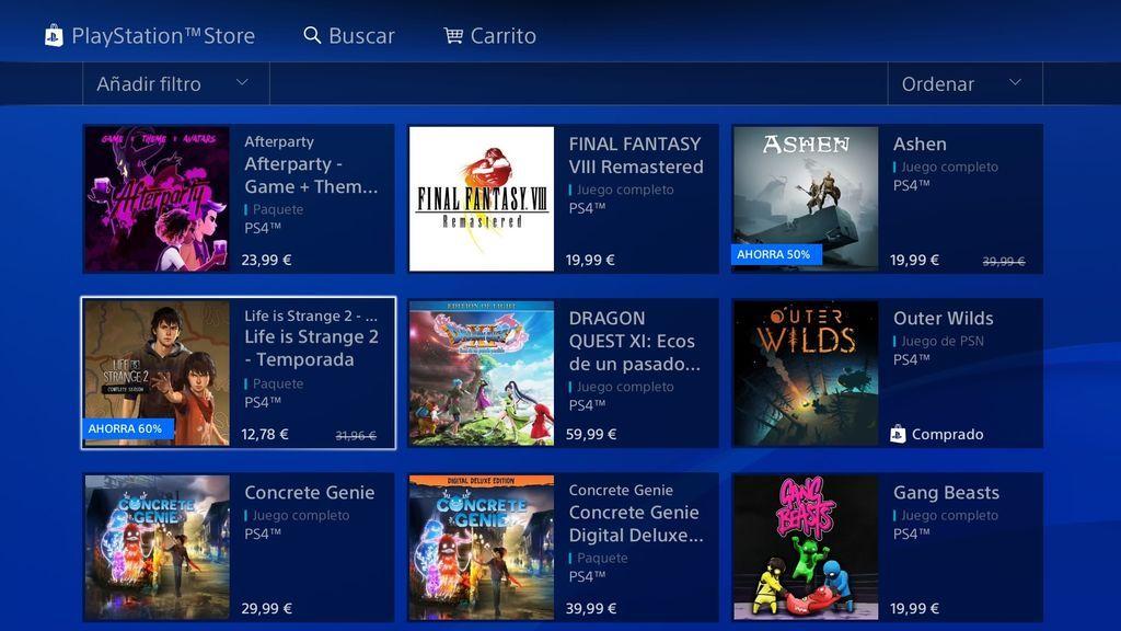 PlayStation Store es la tienda digital de Playstation