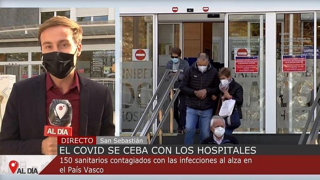 El covid se ceba con los hospitales: 150 sanitarios contagiados con las infecciones al alza