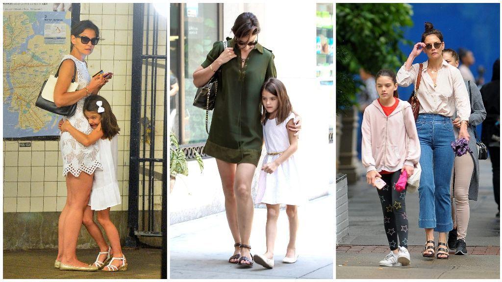 Katie Holmes siempre suele decantarse, para vestir, por prendas básicas.