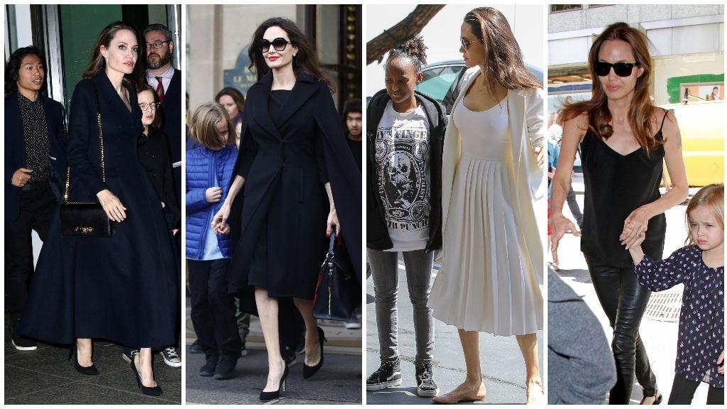 Y Angelina Jolie siempre suele apostar por el negro.