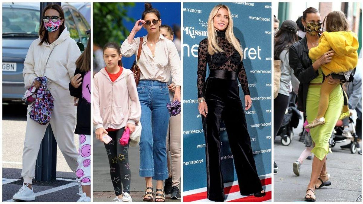 Madres sí, pero también a la moda: de Paula Echevarría a Katie Holmes, pasando por Elsa Pataky e Irina Shayk.