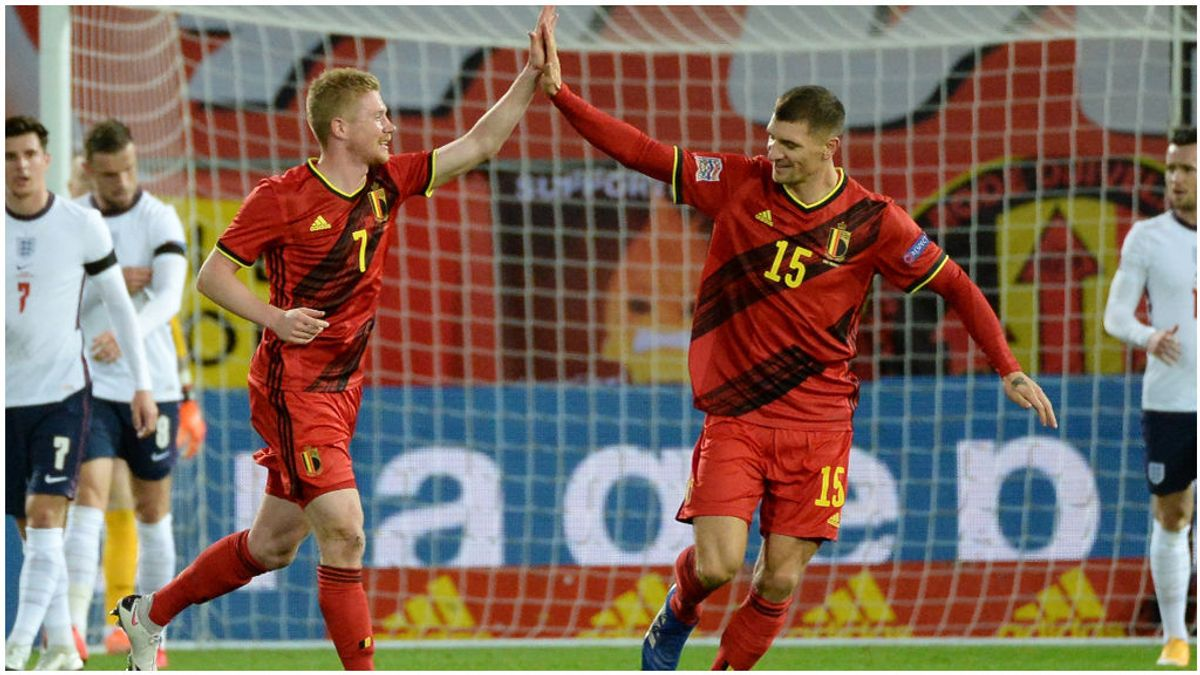 Bélgica se carga a Inglaterra de la Liga de Naciones.