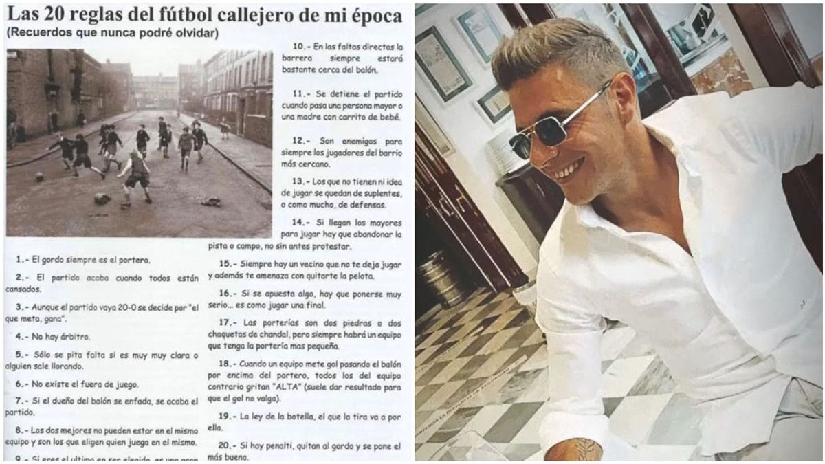 Joaquín y sus reglas del fútbol callejero.