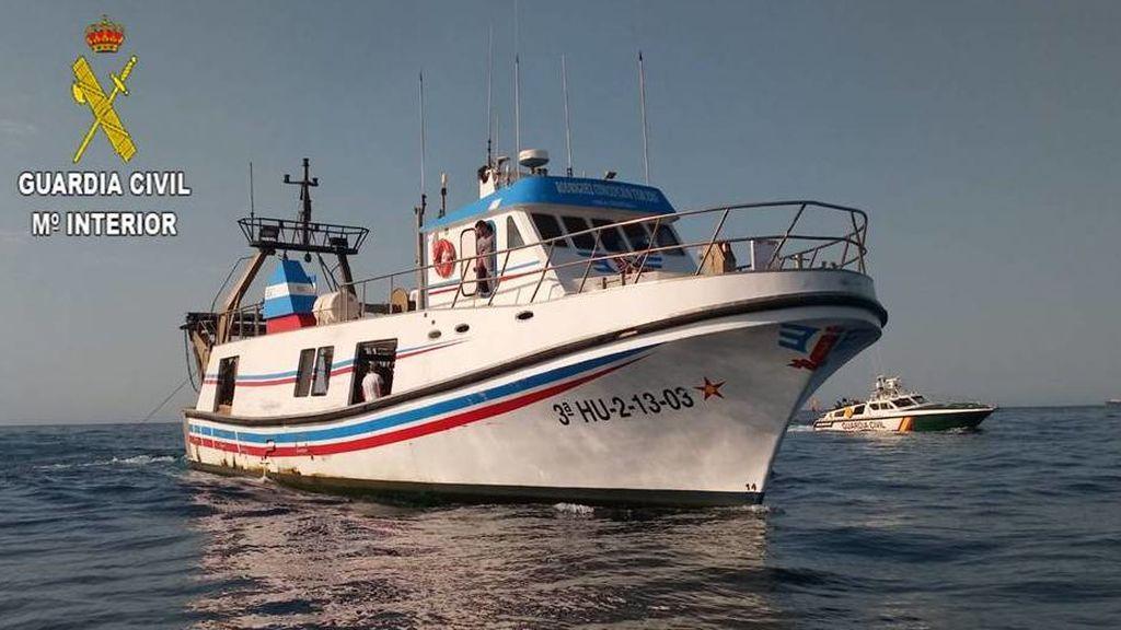 Una de las embarcaciones intervenidas en la operación Sonatine