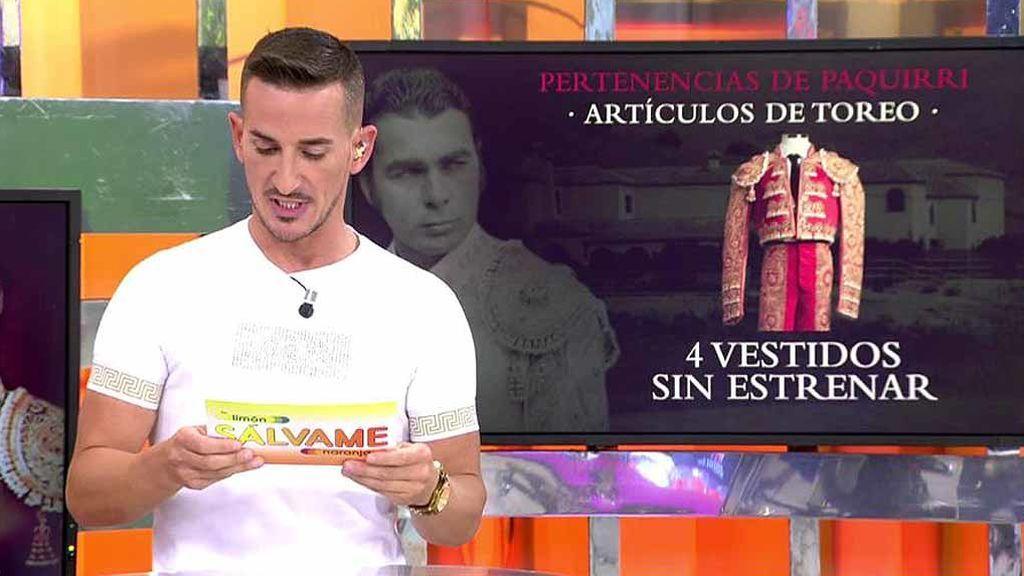 Espadas, trajes de torear o capotes: el inventario de bienes que reclaman Franciso y Cayetano Rivera a Isabel Pantoja