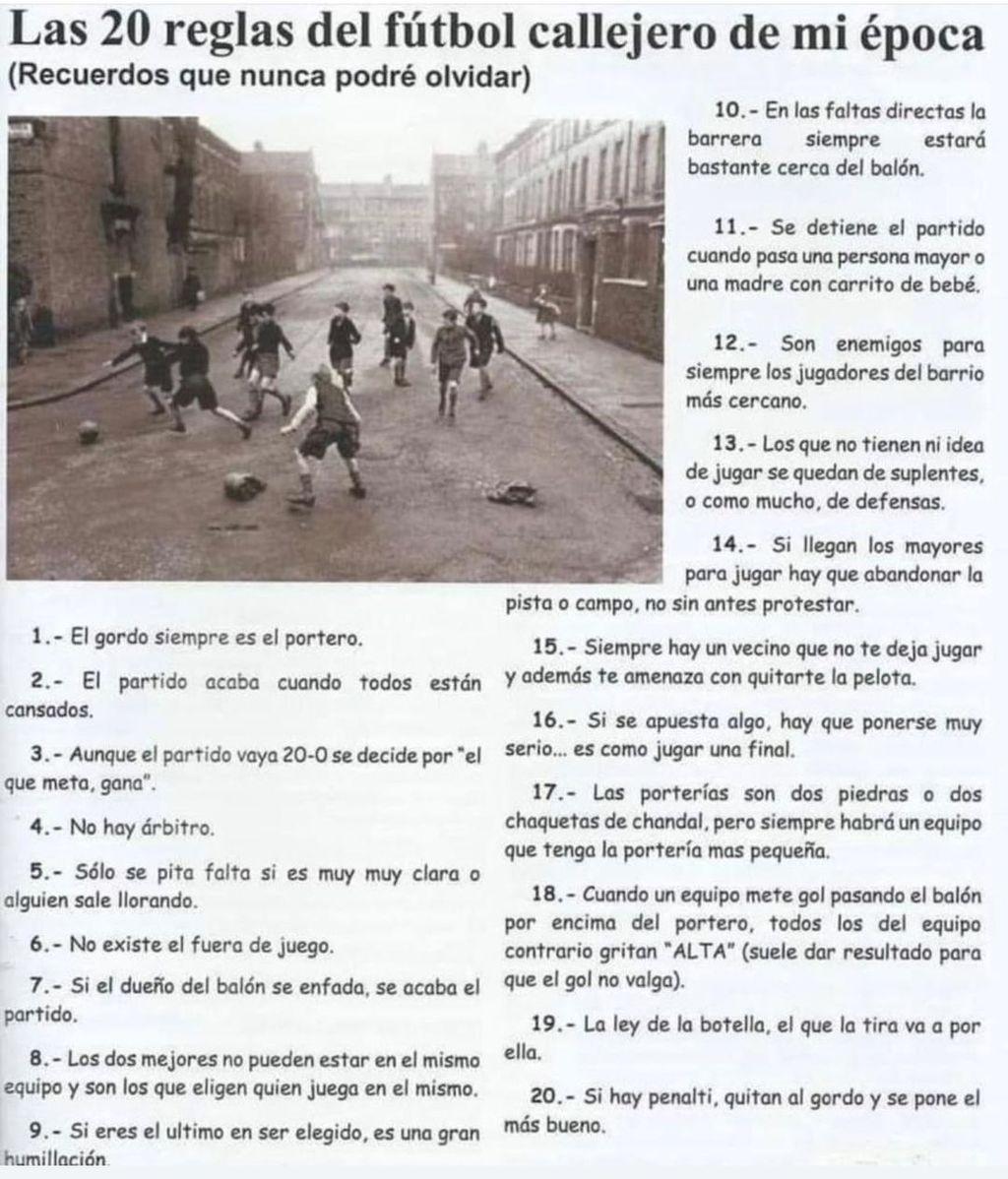 Las reglas del fútbol callejero según Joaquín