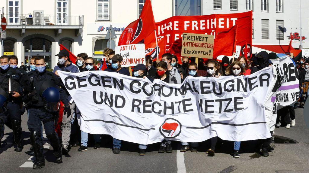 Los negacionistas de la pandemia se ponen violentos en Alemania