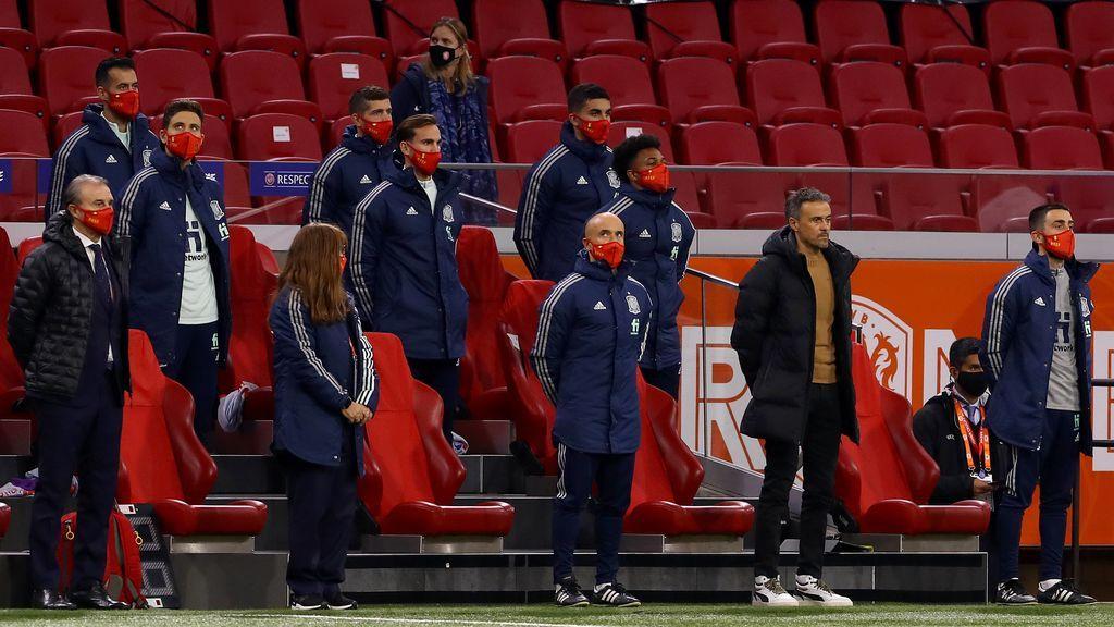 Luis Enrique y su cuerpo técnico no se enteraron de la expulsión del jugador de Suiza