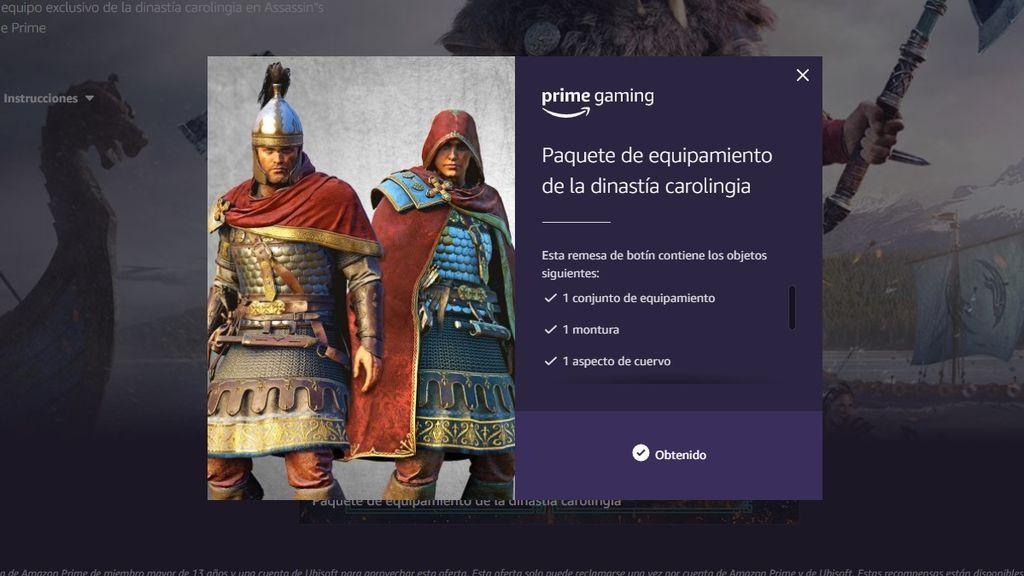 Paquete de equipamiento de la dinastía carolingia