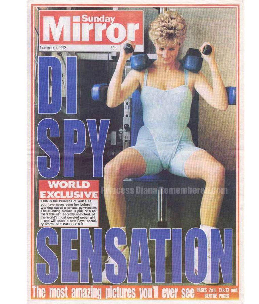Diana de Gales, haciendo gimnasia en la portada de una revista