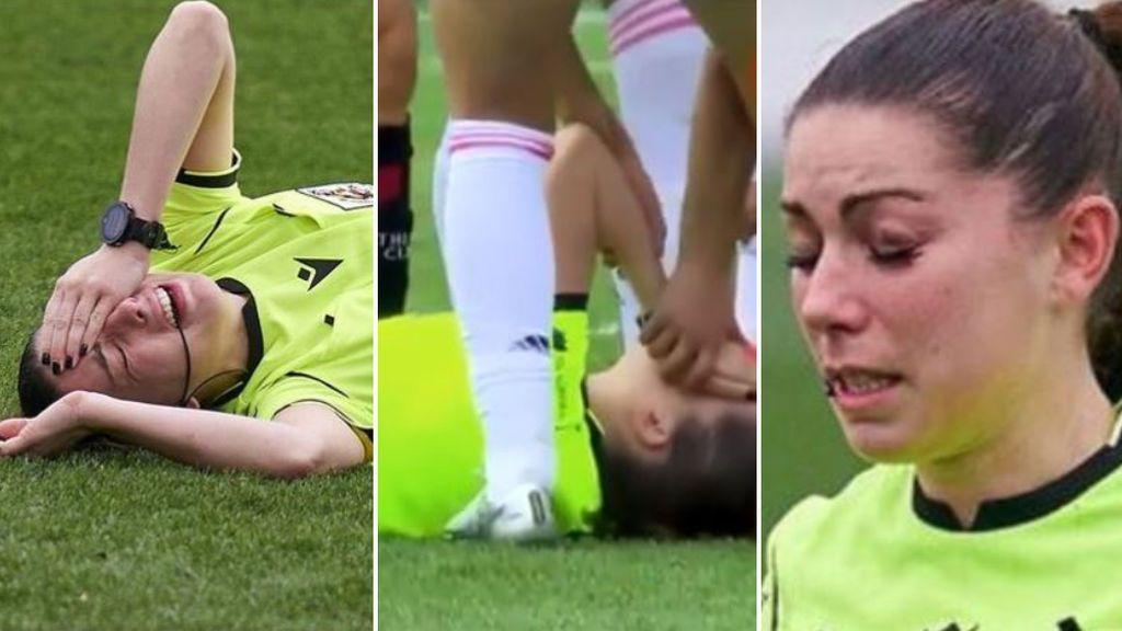 """La árbitra Sara Fernández, víctima de comentarios machistas tras sufrir un balonazo: """"Si hubieses estado fregando no te hubiese pasado"""""""