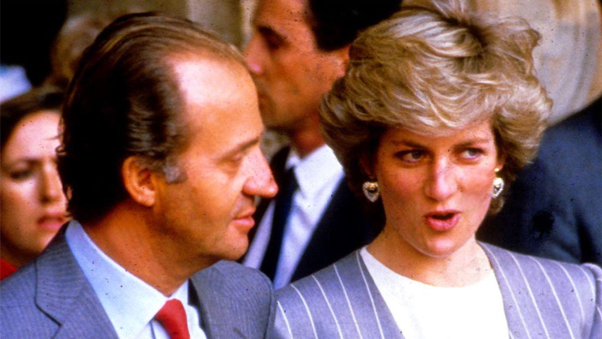 El rey Juan Carlos y a princesa Diana, en su visita a España en 1987
