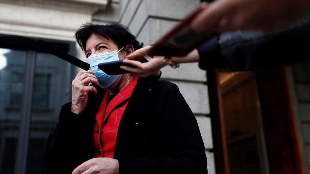 La ministra de Educación, Isabel Celaá, tras el debate de la ley educativa